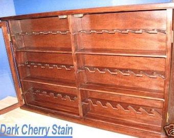 Pipe rack cabinet 42 Pipe Rack Display Cabinet,Churchwarden Item 190