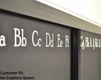 ABC Alphabet Wall Decals • Homeschool Room Wall Decal • Playroom • Nursery Wall Decal • Vinyl ABCs to Customize your Room