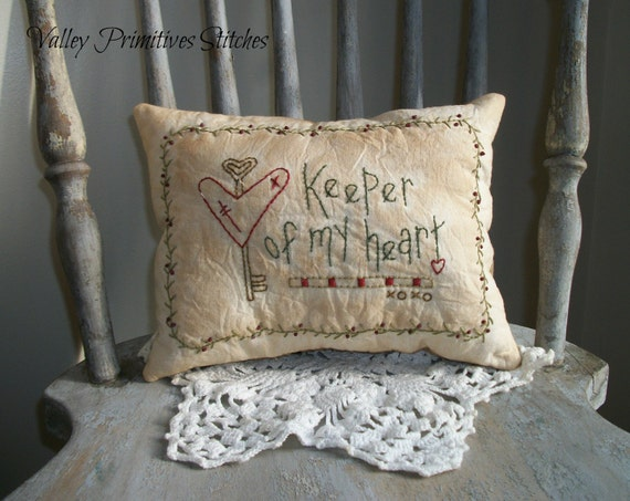 Decorative Valentine Pillows : Decorative Valentine Pillow Valentines Day Heart Hand