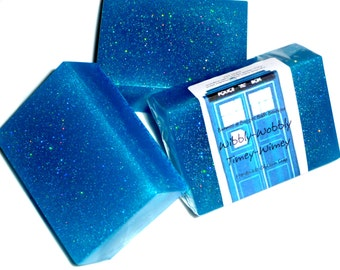 Wibbly Wobbly Timey Wimey Soap Doctor Who Vanilla Custard Glycerin Soap GIANT Bar
