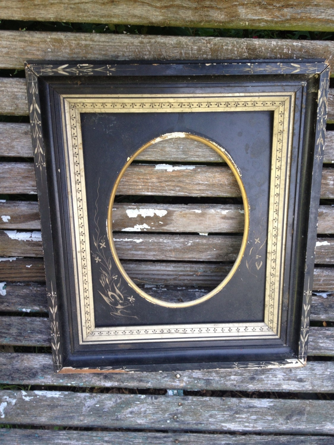 Vintage Antique Shadow Box Wood Picture Frame