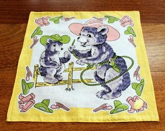 Lassoing Bears Handkerchief