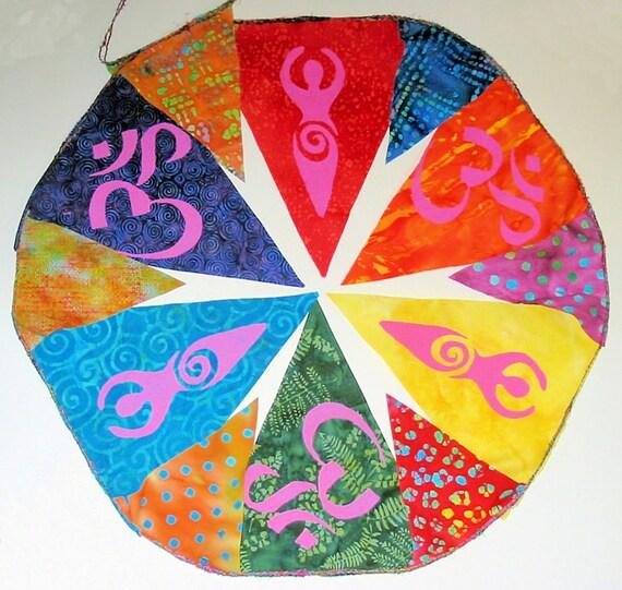 Gypsy Boho Prayer Flags Rainbow Goddess Garland