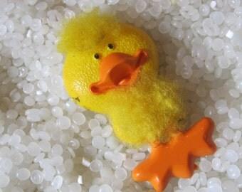 Fuzzy ducky Avon pin