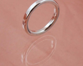3mm Round Wire Textured Ring
