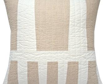 Linen Variation modern throw pillow