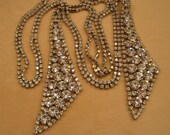 Vintage Necklace or Belt, GLAM to the MAX, Prong Set Clear Rhinestones throughout, Versatile, Ready for any event, from the 1960s era