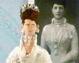 Queen Alexandra of Denmark Doll Miniature Queen Art Collectible