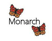 Brick Stitch Earrings Pattern Monarch Butterfly Simple Beaded Earrings Digital PDF Delica Seed Bead Pattern