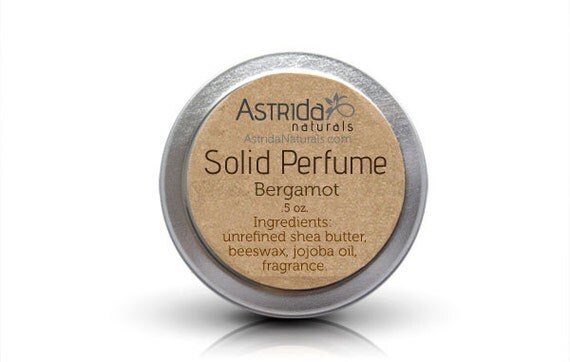 Bergamot Solid Perfume Fragrance Balm with Shea Butter