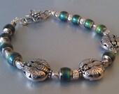 Colour Changing FIne Silver Butterfly Bracelet