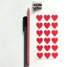Red Heart Sticker Seals, Set of 108