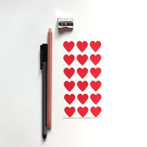 Red Heart Sticker Seals, Set of 108