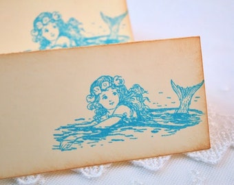 Mermaid Place cards / Placecards Food Buffet Signs Set of 10