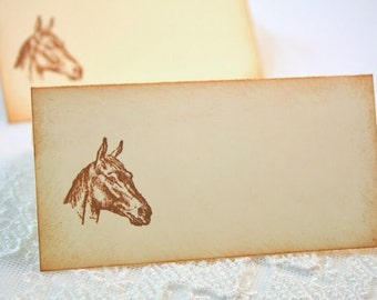 Horse Place cards / Placecards Food Buffet Signs Set of 10