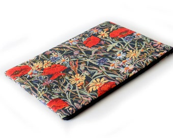 SALE! MacBook 15 Retina case sleeve cover upholstery fabric Red Poppies Poppy
