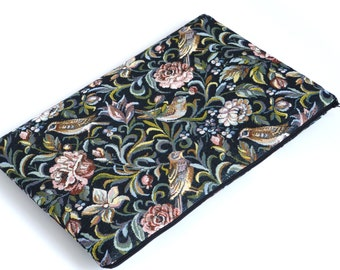 SALE! MacBook 15 Pro Case, Sleeve, Padded, Cover Garden Birds Fabric Bag