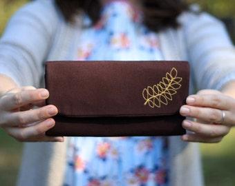 Custom Linen Trifold Wallet