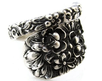 Spoon Ring Size 6 to 15  Stieff Rose Sterling Silver