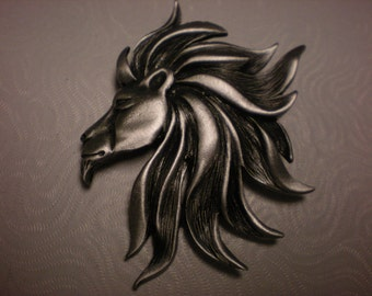 JJ pewter pin cooooool LION BEAUTIFUL