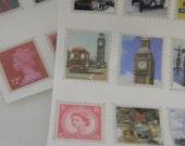 England Tiny stamp stickers