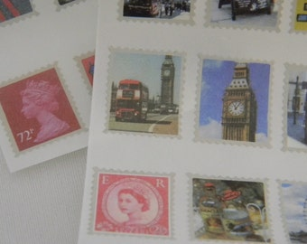 England Tiny stamp stickers
