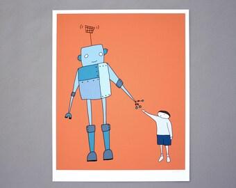 Take Me To Your Leader 8x10 Robot Art Print