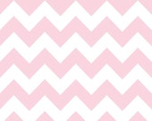 Riley Blake Chevron Baby Pink Flannel Fabric, 1 yard