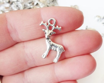 10 Deer Charms (double sided, puffed) 23.5X19x2.5mm ITEM:AC12