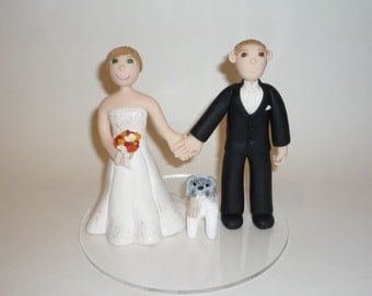 cake topper bride and groom made to order - boat sample photo