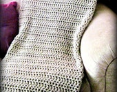 Throw Blanket Taupe, Tan, Brown Crocheted, Or YOU Choose Color, Warm Blanket, Home Decor, Interior Design, Neutral Pallate, Accent,