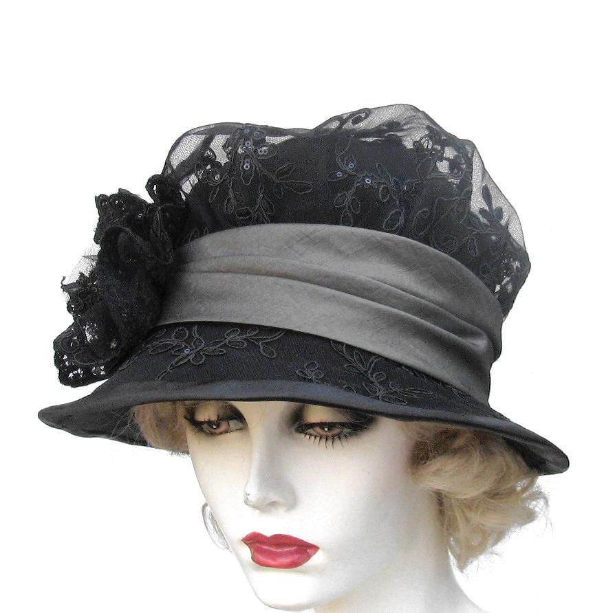 s hat vintage style edwardian mourning