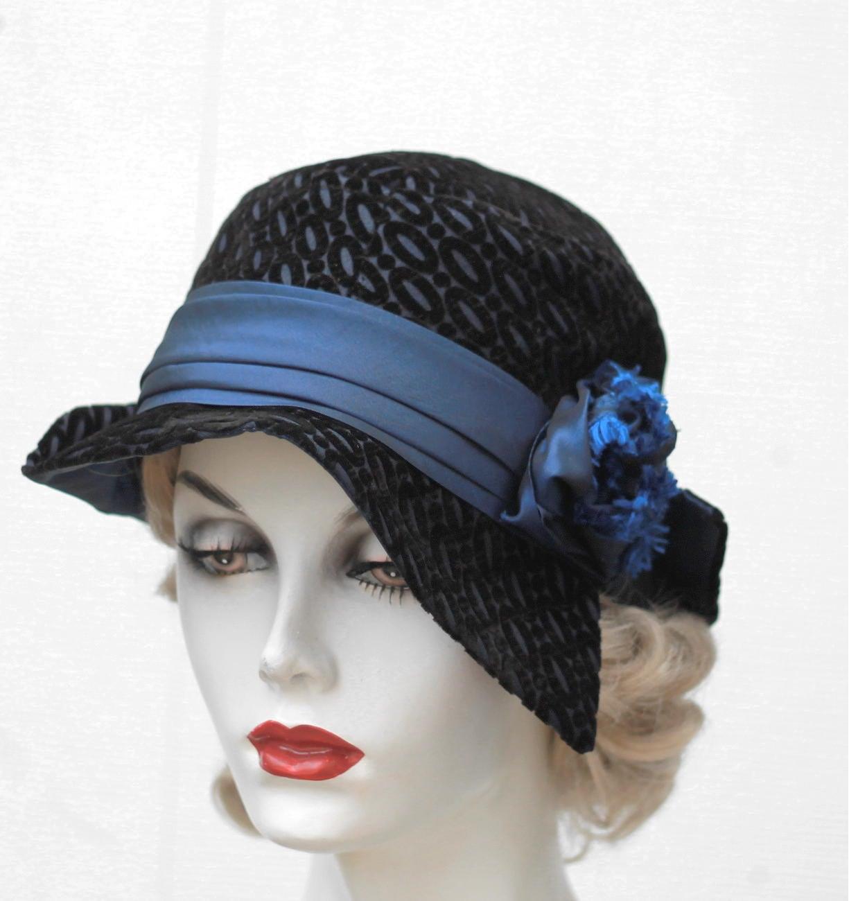 1920s Womens Hat Trendy Unique Fashion Hats Art Deco Style