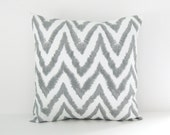 Gray Pillow Cover Chevron Pillow Decorative Pillow Cushion cover 8 Sizes Available