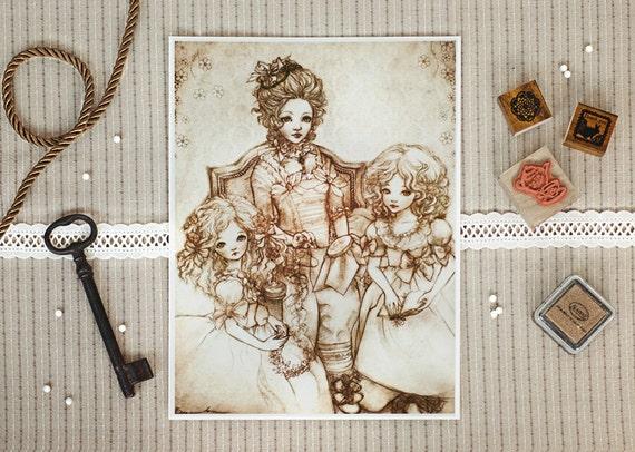 Arcadia Dolls - Art Print 6 x 8
