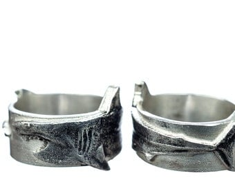 Shark Ring Silver Great White Shark WeekSterling Silver Shark Week Sharknado
