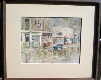 Cycling in the Rain  oil