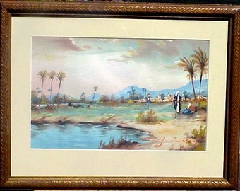 Damascus Syria Antique Painting