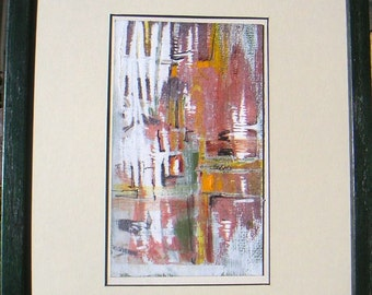 Mid Century Modern American Abstract Painting