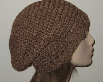 Slouchy Beanie Dread Hat in Cafe