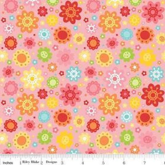 "Riley Blake Designs ""Hello Sunshine"" by Lori Whitlock pattern C3151 Pink - Petals 1/2 Yard PRECUT"