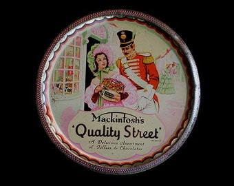 Vintage 40s Mackintosh's Candy Tin Quality Street