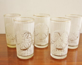 Vintage set of 5 glasses