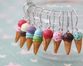 Ice Cream Earrings - Custom Made 2 Scoops - IceCream Collection