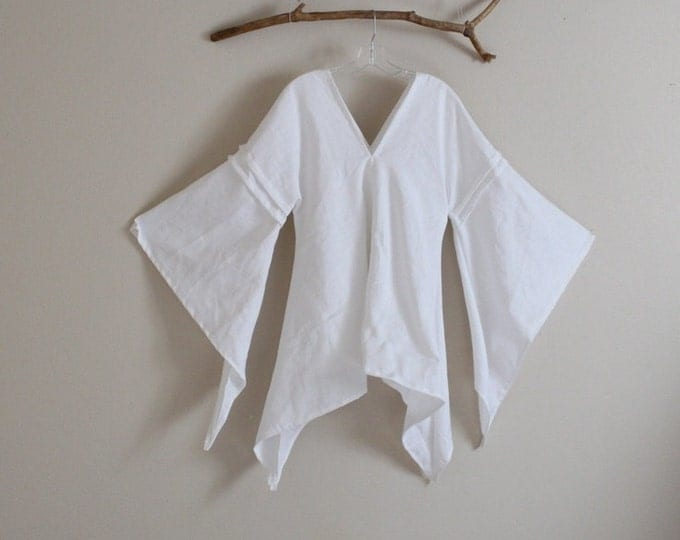 custom eco linen swallow top