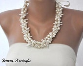 Beach Weddings Mother of Pearl and Pearl Necklace, brides, bridesmaids,