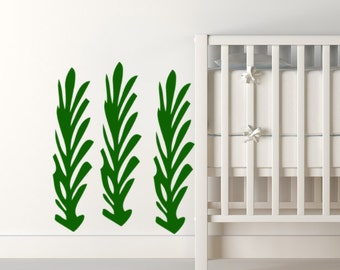Seaweed wall decal  3 pc Set nautical removable vinyl stickers for beach themed rooms or bathroom decor