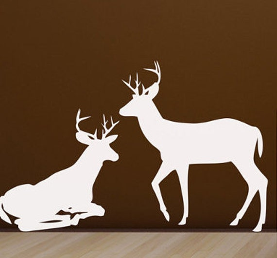 Deer Vinyl Wall Decals Rustic Home Decor For By HouseHoldWords