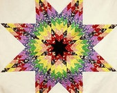 ROY-G-BIV Lone Star Quilt Pattern - PDF - Rainbow Star Quilt Pattern - Quilting Pattern - Download