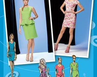 Simplicity 1650 Peplum Dress Pattern Project Runway